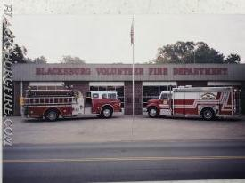 ENGINE AND RESCUE POSING FOR THE PHOTO BACK IN THE DAY