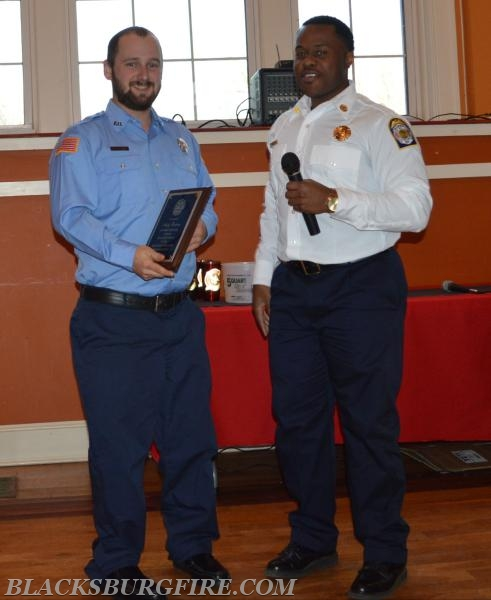 ANDY BORDERS RECEIVING HIS YEARS OF SERVICE AWARD