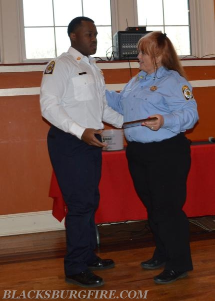 SHIRLEY POWELL RECEIVING HER YEARS OF SERVICE AWARD