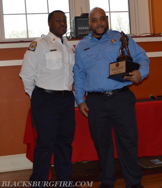 OMAR FORD RECEIVING FIREFIGHTER OF THE YEAR